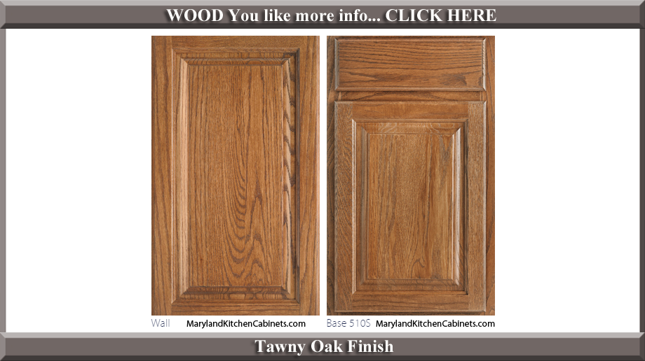 510 Tawny Oak Finish Cabinet Door Style