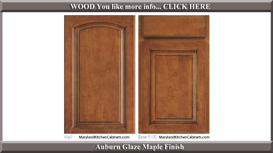 511 Auburn Glaze Maple Finish Cabinet Door Style