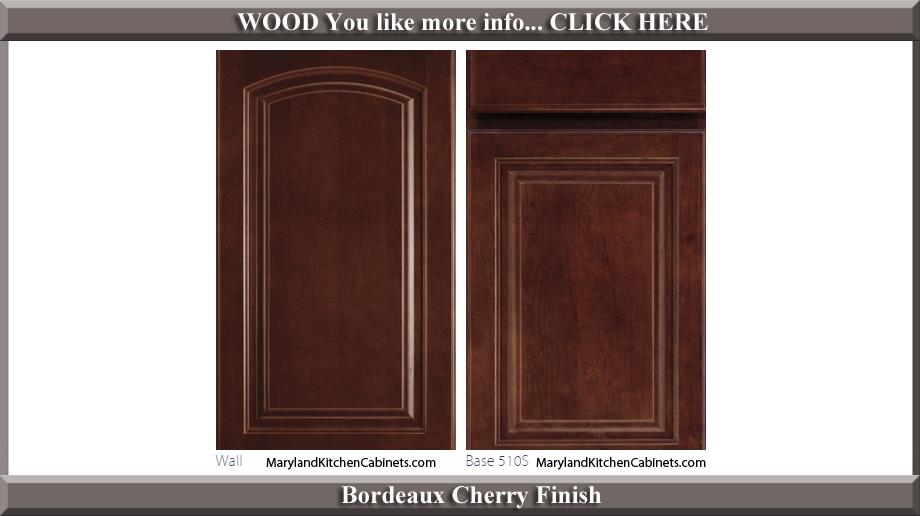 511 Bordeaux Cherry Finish Cabinet Door Style