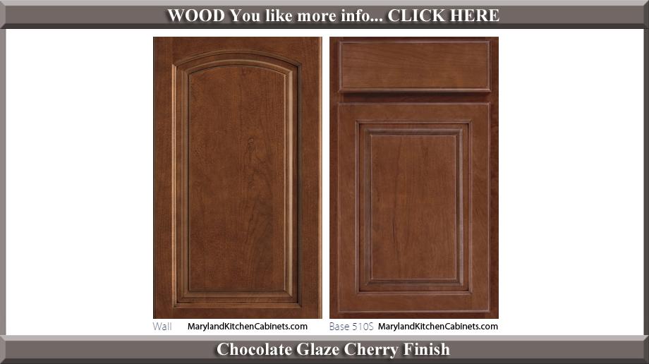 511 Chocolate Glaze Cherry Finish Cabinet Door Style