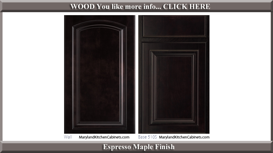 511 Espresso Maple Finish Cabinet Door Style