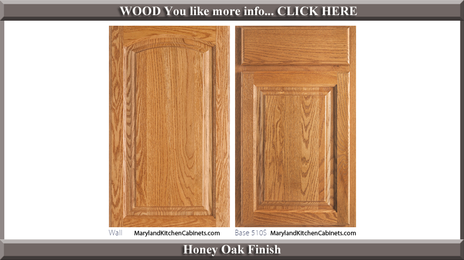 511 Honey Oak Finish Cabinet Door Style