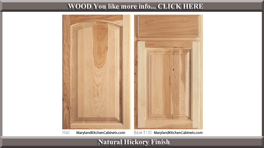 511 Natural Hickory Finish Cabinet Door Style  sc 1 st  Maryland Kitchen Cabinets & 511 u2013 Hickory u2013 Cabinet Door Styles and Finishes | Maryland Kitchen ...