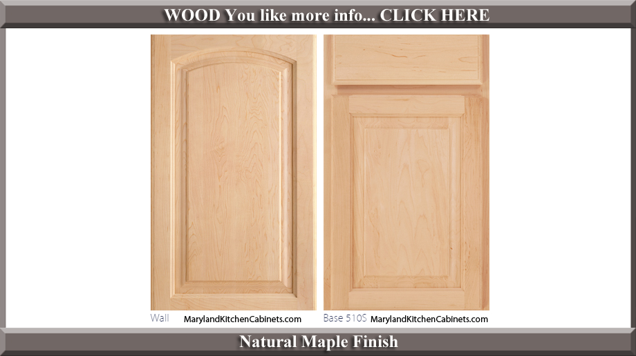 511 Natural Maple Finish Cabinet Door Style
