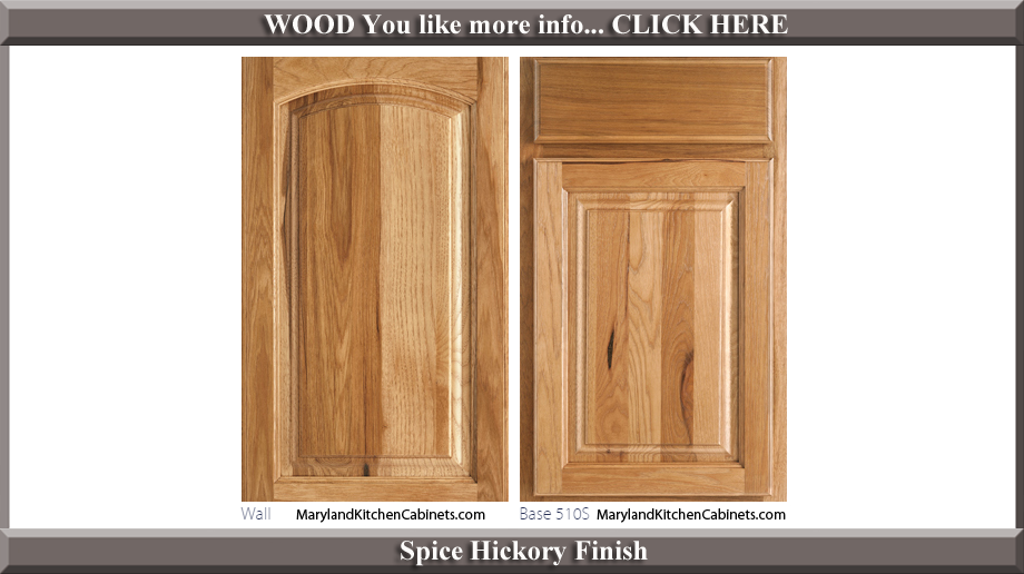 511 Spice Hickory Finish Cabinet Door Style