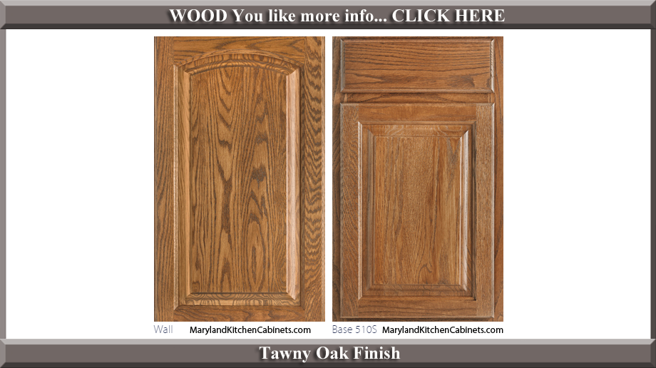 511 Tawny Oak Finish Cabinet Door Style