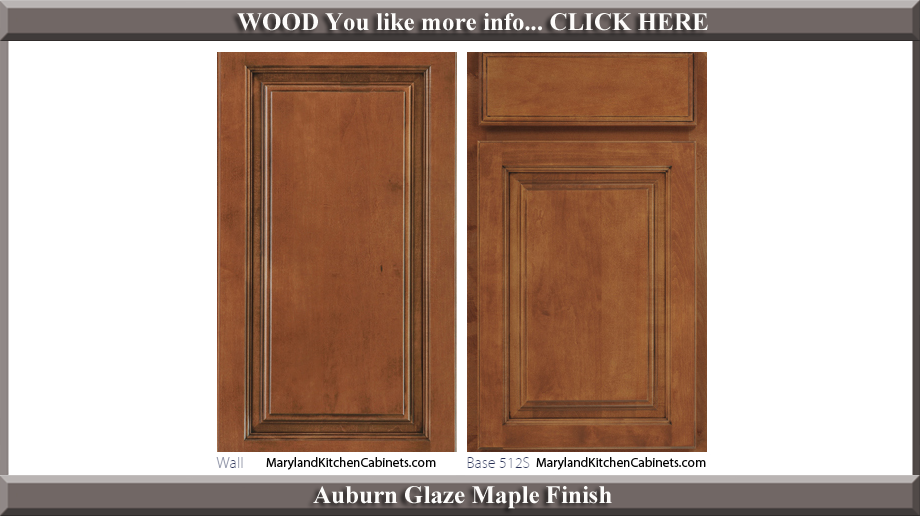 512 Auburn Glaze Maple Finish Cabinet Door Style