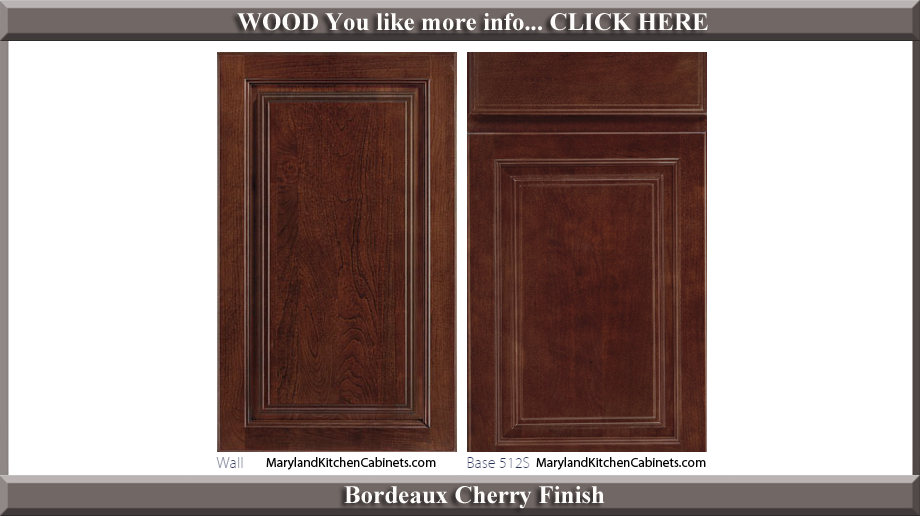 512 Bordeaux Cherry Finish Cabinet Door Style