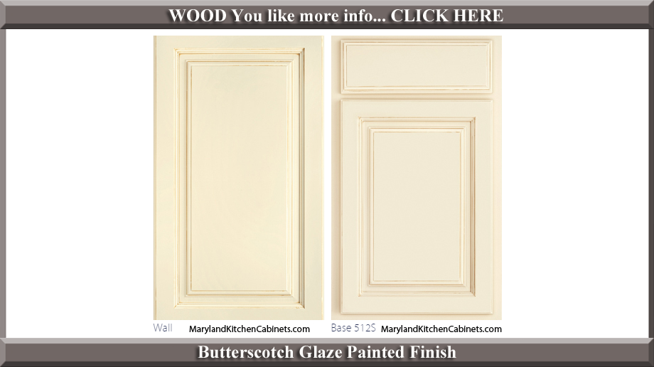 512 Butterscotch Glaze Finish Cabinet Door Style