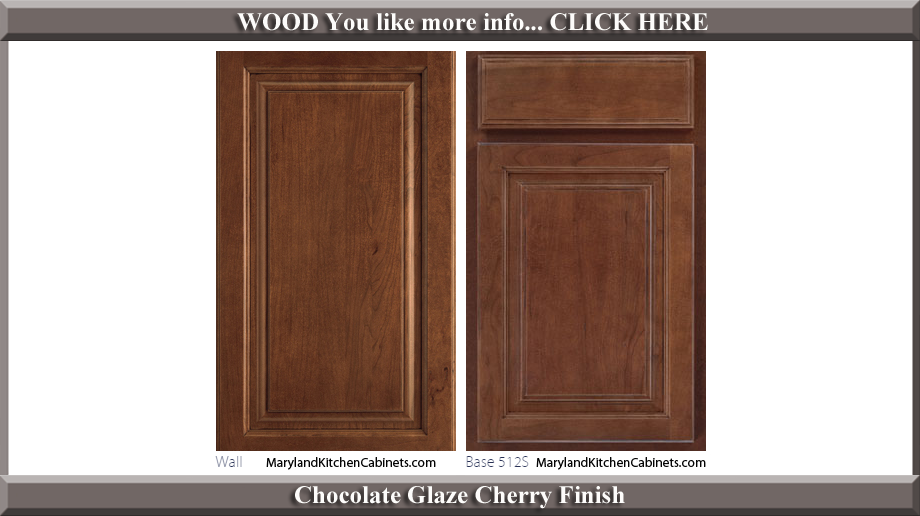512 Chocolate Glaze Cherry Finish Cabinet Door Style