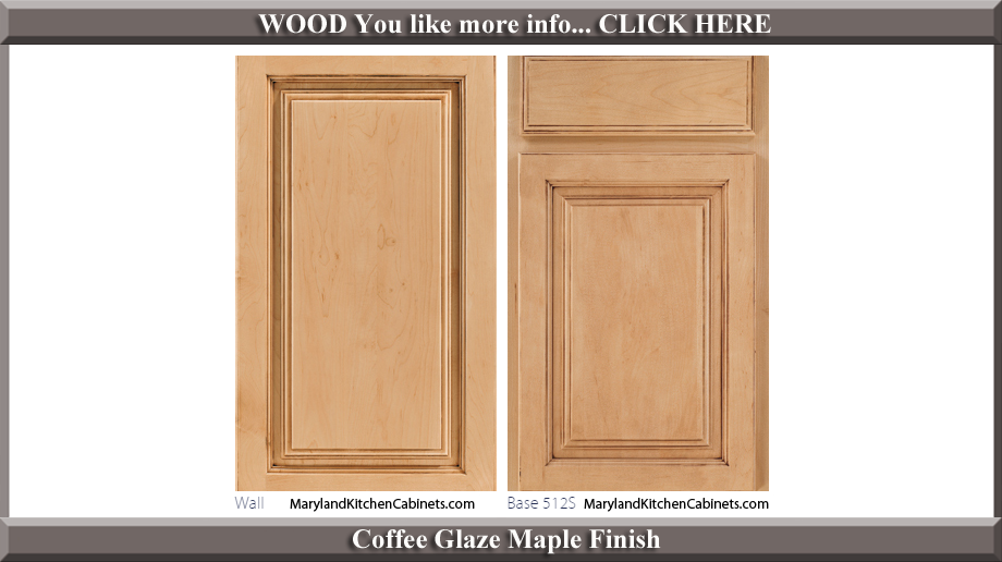 512 Coffee Glaze Maple Finish Cabinet Door Style