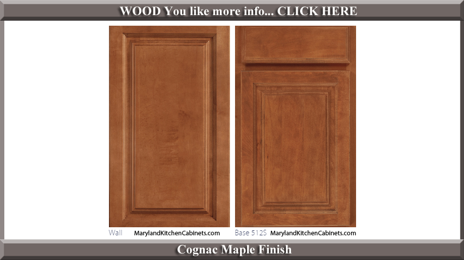 512 Cognac Maple Finish Cabinet Door Style