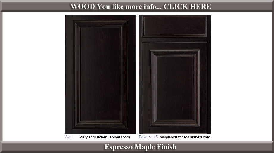 512 Espresso Maple Finish Cabinet Door Style
