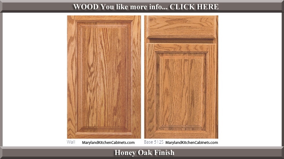 512 Honey Oak Finish Cabinet Door Style