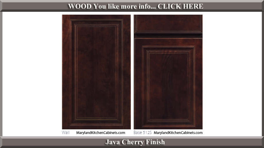 512 Java Cherry Finish Cabinet Door Style