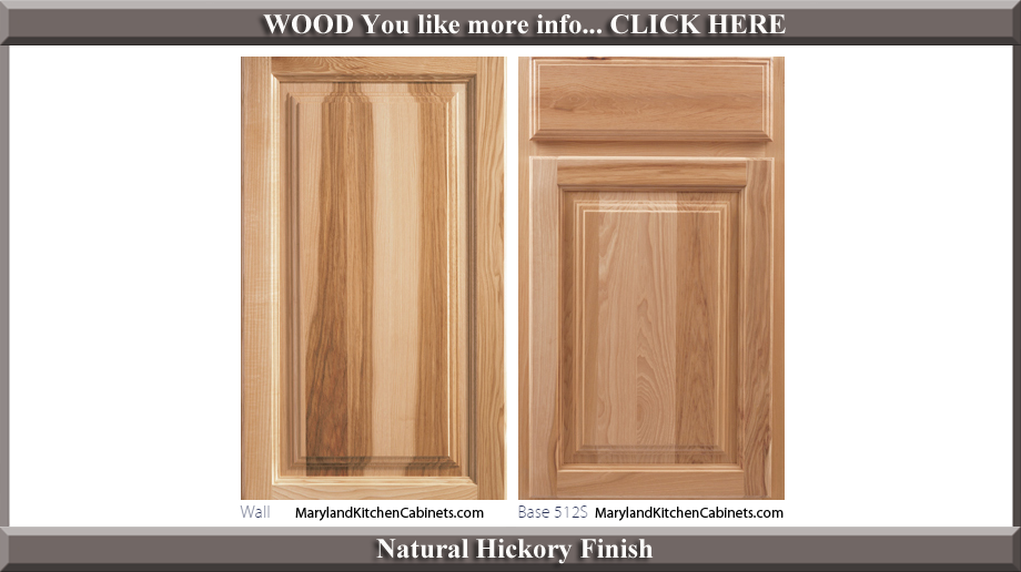 512 Natural Hickory Finish Cabinet Door Style Hickory Wood Cabinets65