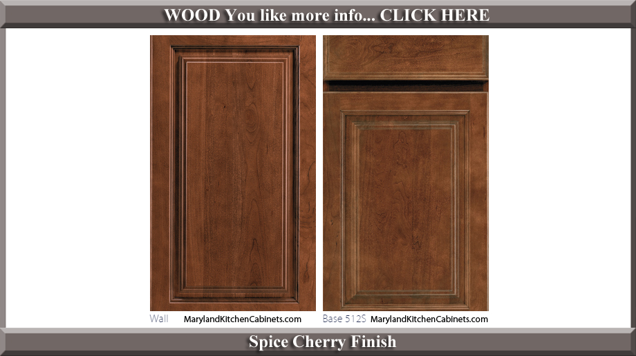 512 Spice Cherry Finish Cabinet Door Style