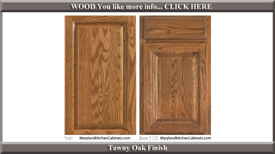 512 Tawny Oak Finish Cabinet Door Style