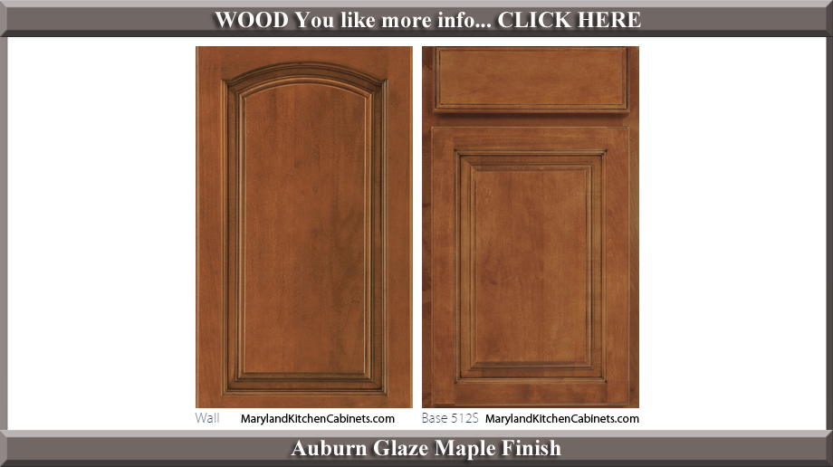513 Auburn Glaze Maple Finish Cabinet Door Style
