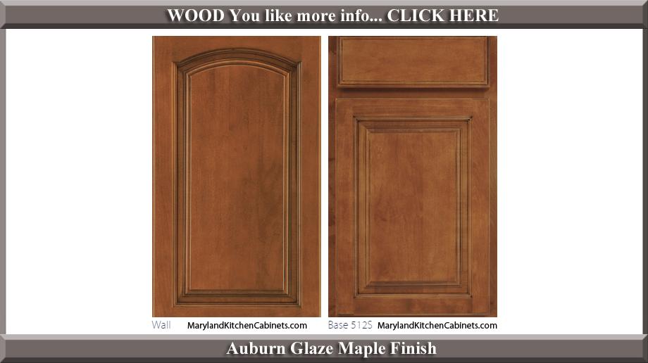 513 Auburn Glaze Maple Finish Cabinet Door Style