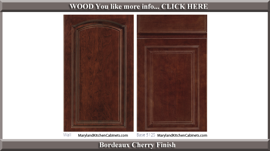 513 Bordeaux Cherry Finish Cabinet Door Style