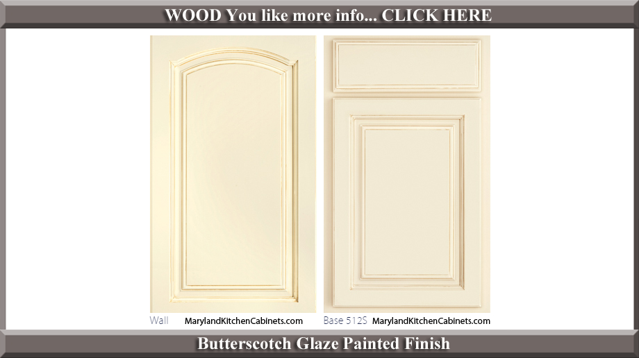 513 Butterscotch Glaze Painted Finish Cabinet Door Style