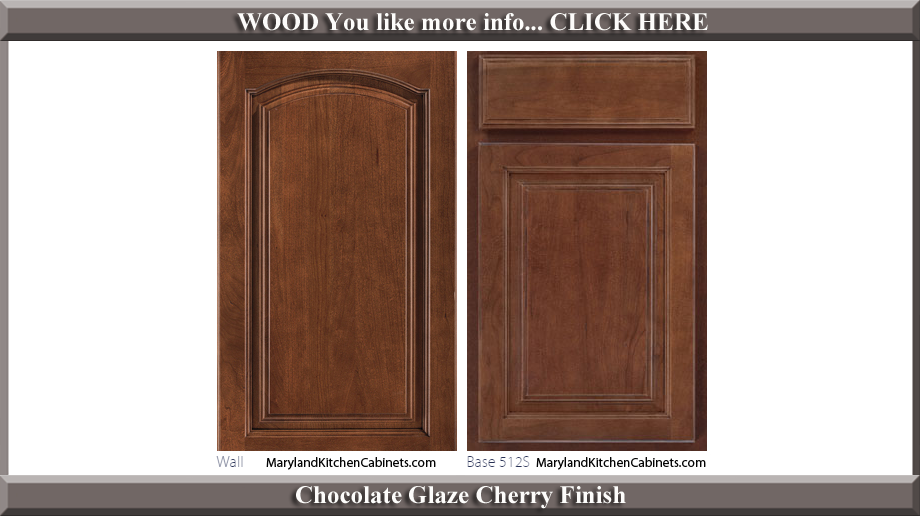 513 Chocolate Glaze Cherry Finish Cabinet Door Style