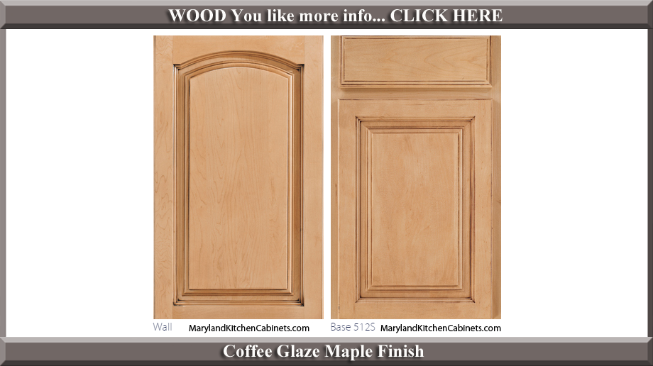513 Coffee Glaze Maple Finish Cabinet Door Style