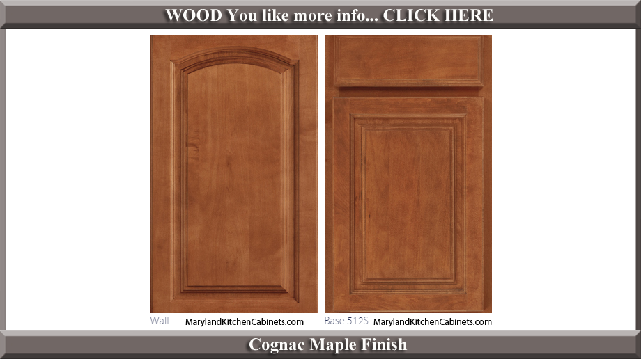 513 Cognac Maple Finish Cabinet Door Style