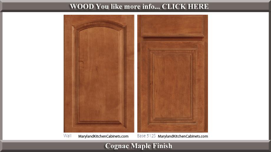 513 Cognac Maple Finish Cabinet Door Style