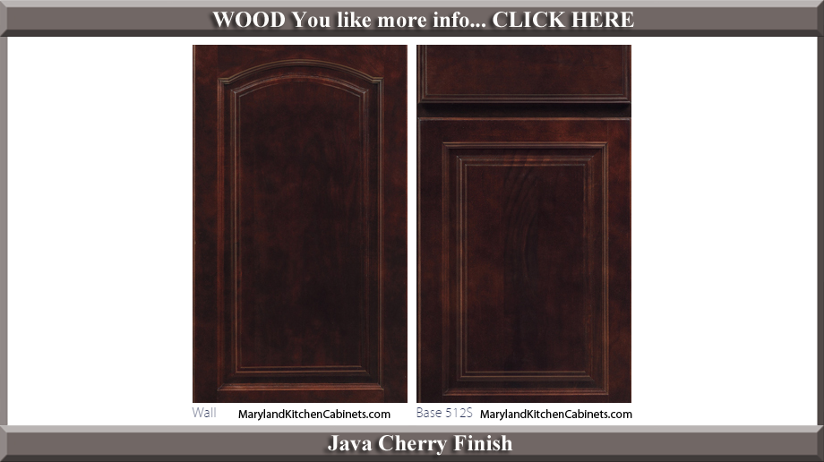 513 Java Cherry Finish Cabinet Door Style