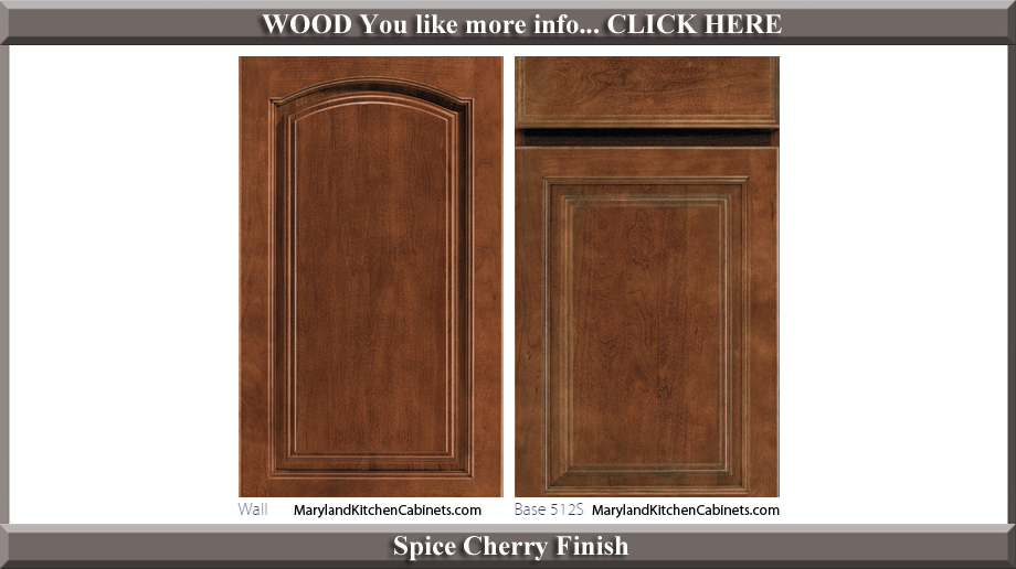 513 Spice Cherry Finish Cabinet Door Style