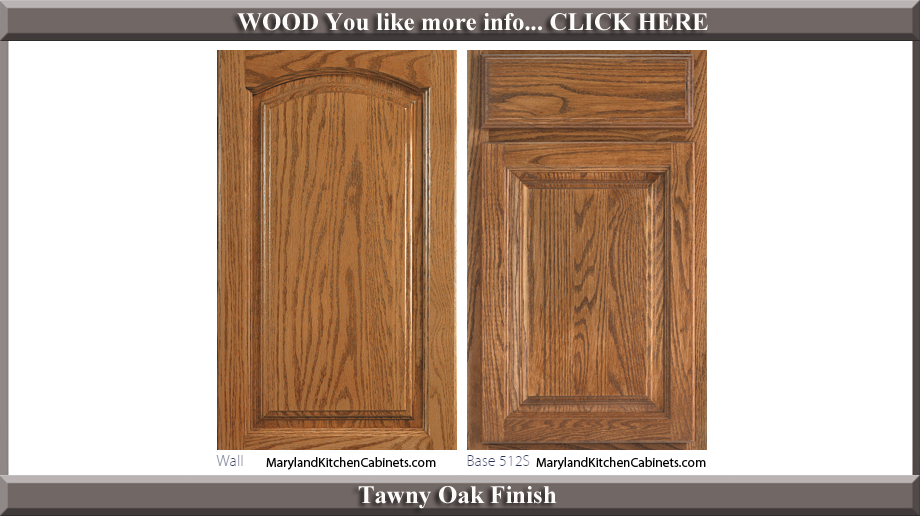 513 Tawny Oak Finish Cabinet Door Style