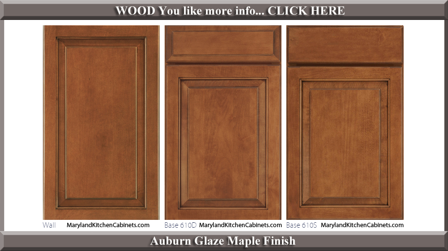 610 Auburn Glaze Maple Finish Cabinet Door Style