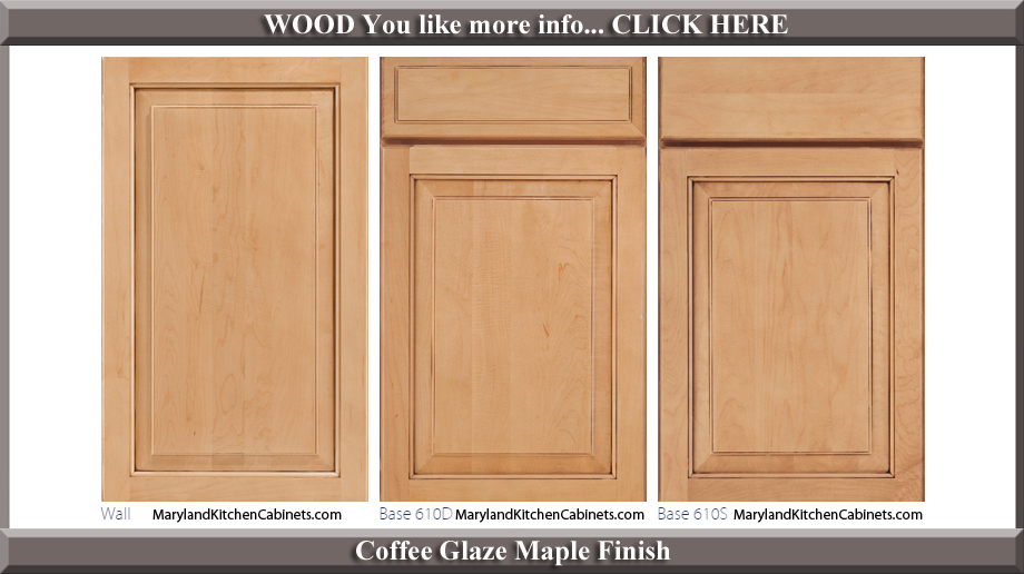 610 Coffee Glaze Maple Finish Cabinet Door Style