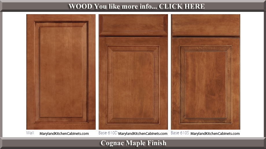610 Cognac Maple Finish Cabinet Door Style