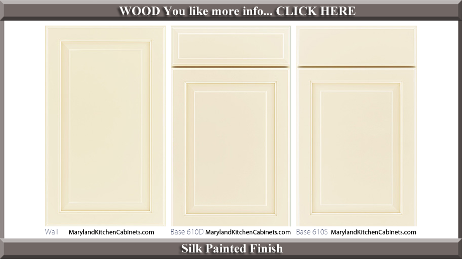 610 Silk Painted Finish Cabinet Door Style