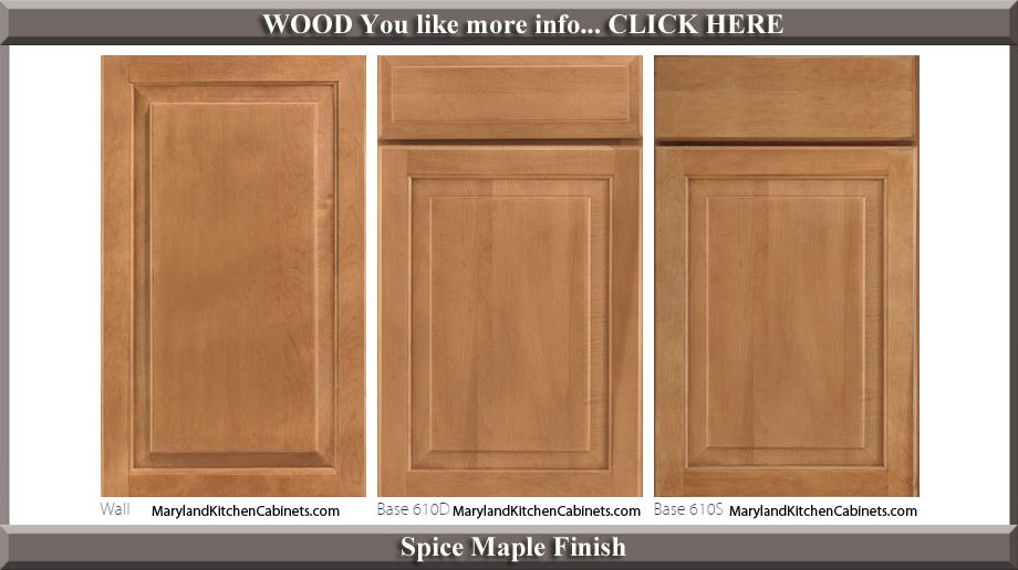 610 Spice Maple Finish Cabinet Door Style