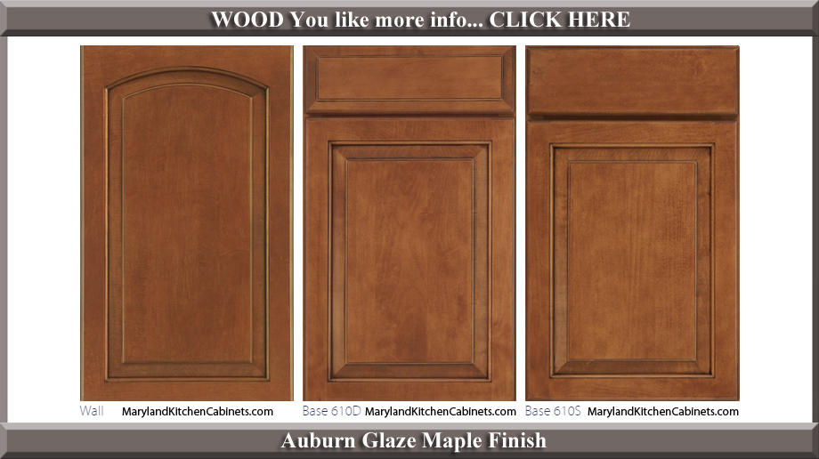 611 Auburn Glaze Maple Finish Cabinet Door Style