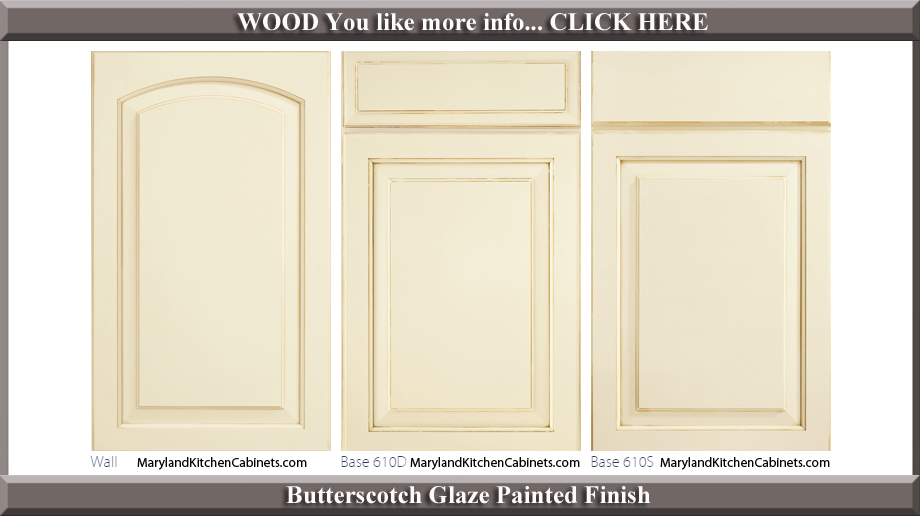 611 Butterscotch Glaze Painted Finish Cabinet Door Style