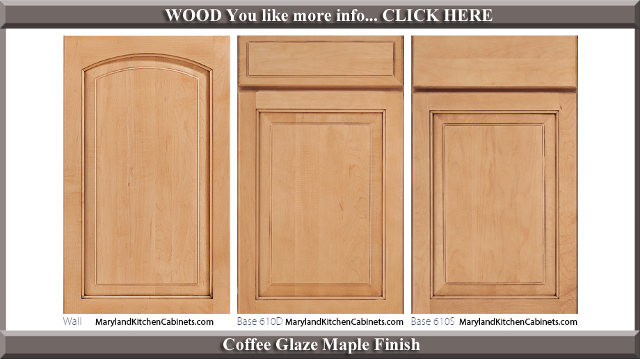 611 Coffee Glaze Maple Finish Cabinet Door Style