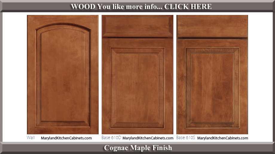 611 Cognac Maple Finish Cabinet Door Style