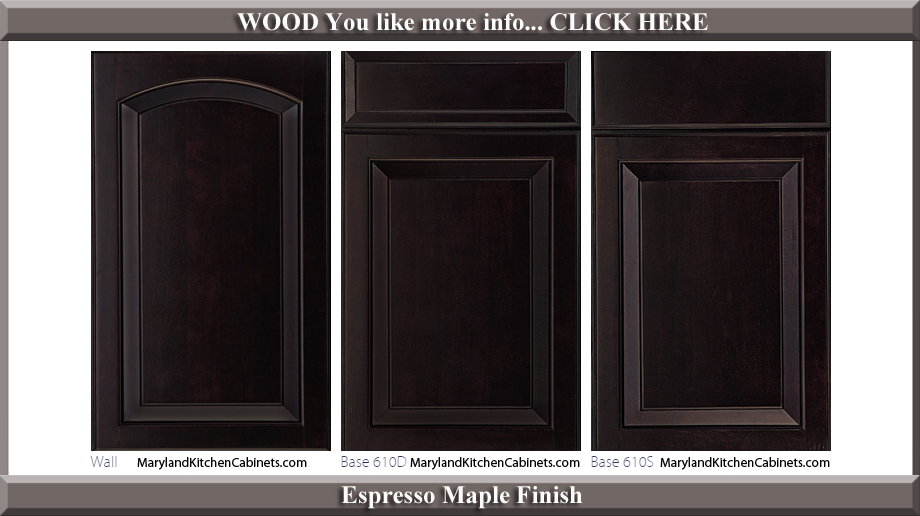 611 Espresso Maple Finish Cabinet Door Style