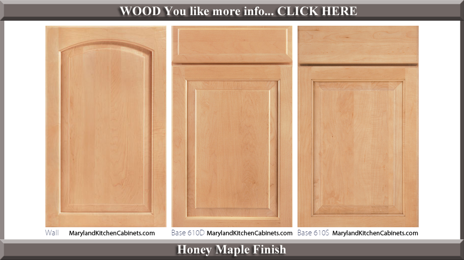 611 Honey Maple Finish Cabinet Door Style