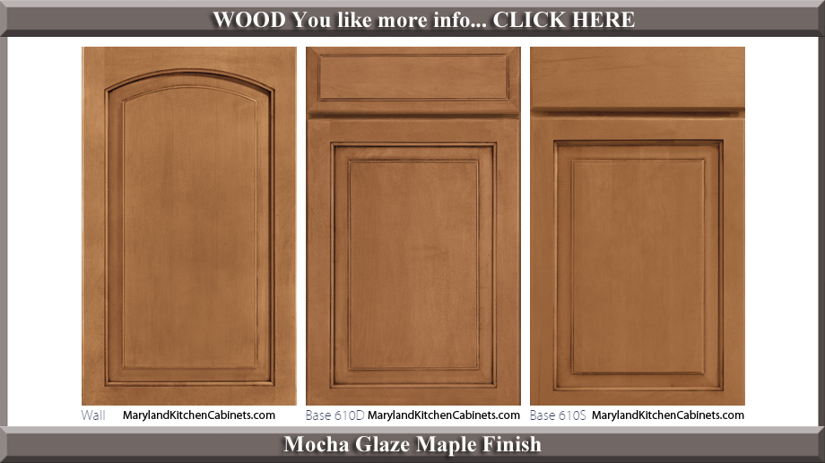 611 Mocha Glaze Maple Finish Cabinet Door Style