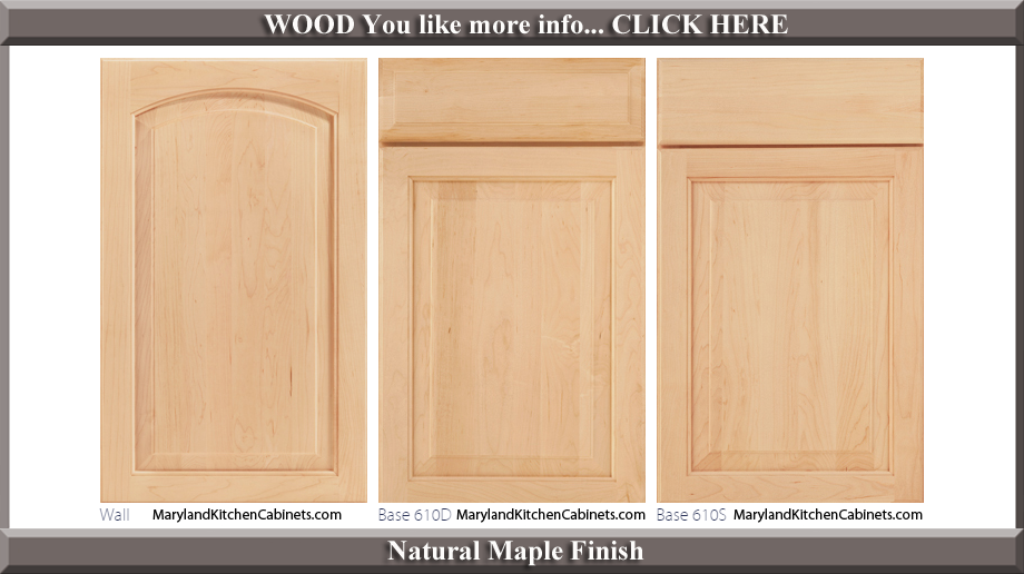 611 Natural Maple Finish Cabinet Door Style
