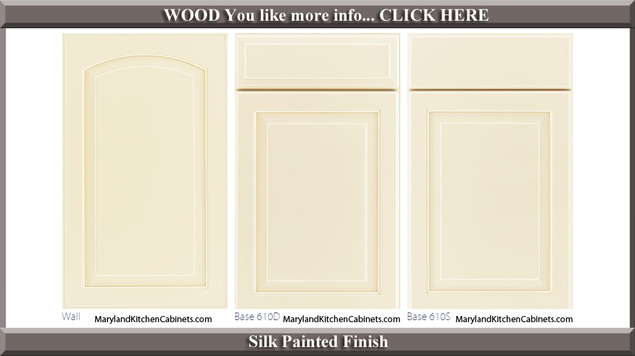 611 Silk Painted Finish Cabinet Door Style
