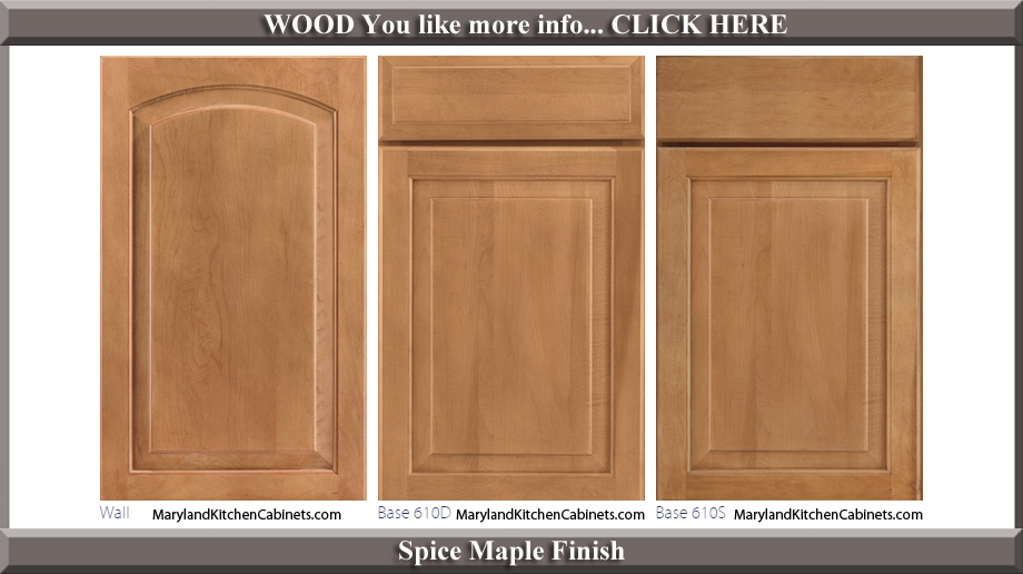 611 Spice Maple Finish Cabinet Door Style