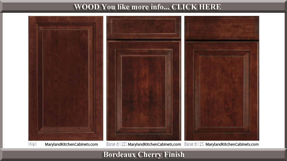 612 Bordeaux Cherry Finish Cabinet Door Style