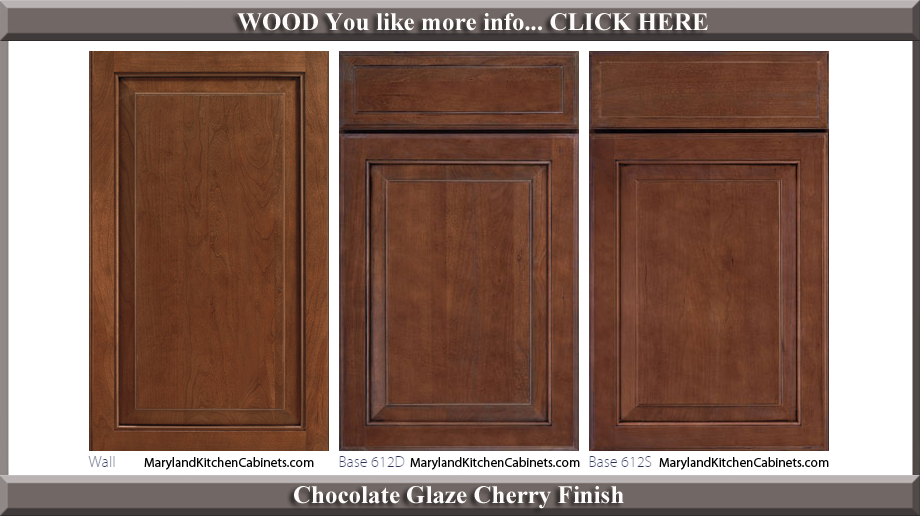 612 Chocolate Glaze Cherry Finish Cabinet Door Style